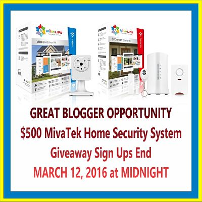 $500 MivaTek Home Security System Giveaway Sign Ups