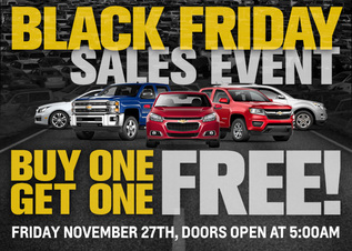 Chevy Black Friday, BOGO